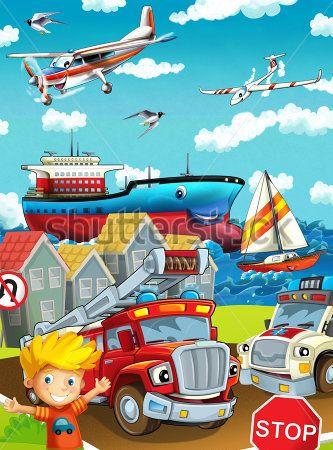 Каталог Картина мир машинок: Детские | Wall-Style