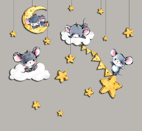 Каталог Картина мышки: Детские | Wall-Style
