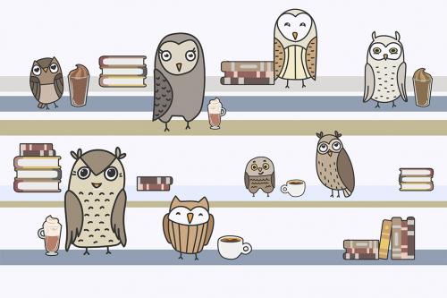 Каталог Картина полки с совами: Детские   Wall-Style