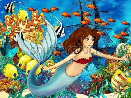 Каталог Картина морское царство: Детские   Wall-Style