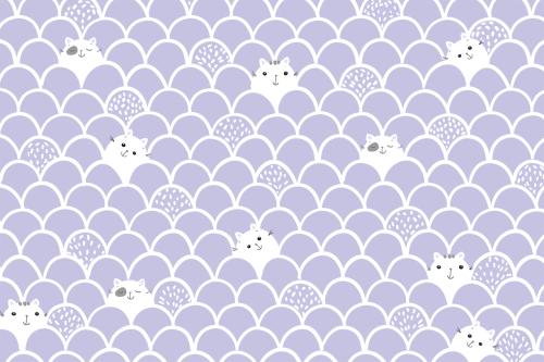 Каталог Картина паттерн с котиками: Детские | Wall-Style