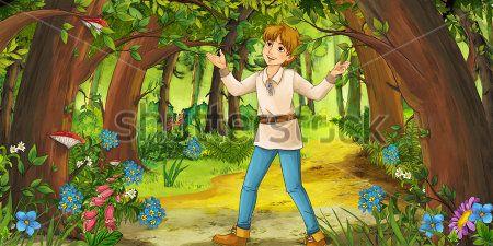 Каталог Картина мальчик в лесу: Детские   Wall-Style