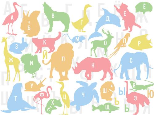 Каталог Картина учим алфавит весело: Детские   Wall-Style