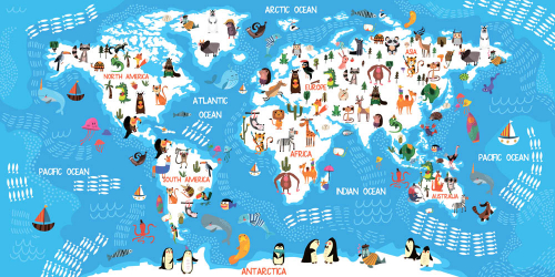 Каталог Картина волшебная карта: Детские   Wall-Style