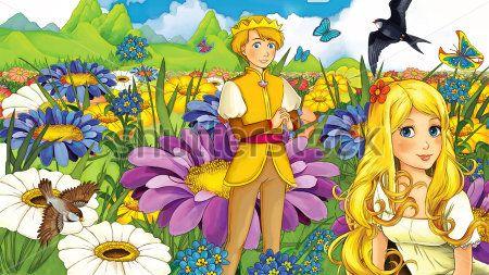 Каталог Картина дюймовочка и принц: Детские | Wall-Style