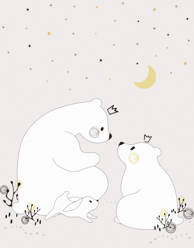 Каталог Картина медведица с малышом: Детские | Wall-Style