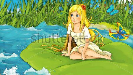 Каталог Картина дюймовочка на реке: Детские   Wall-Style