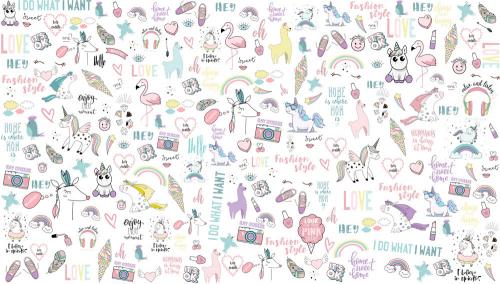 Каталог Картина паттерн из детских рисунков: Детские | Wall-Style