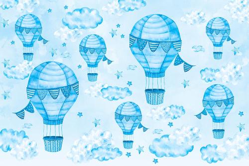 Каталог Картина синие воздушные шары: Детские   Wall-Style