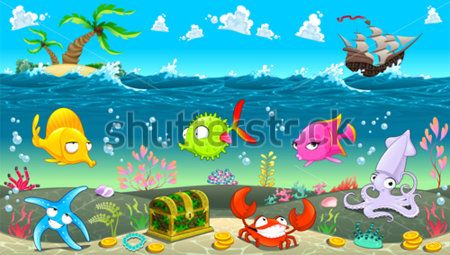Каталог Картина подводное царство: Детские   Wall-Style