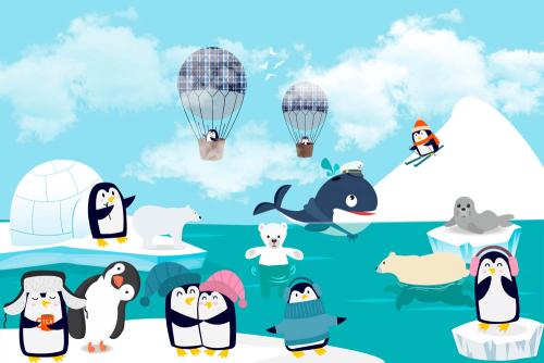 Каталог Фотообои пингвины на льдине:    Wall-Style