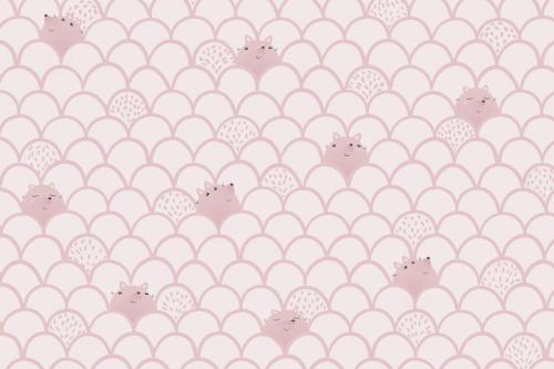 Каталог Картина розовый паттерн с лисичками: Детские | Wall-Style