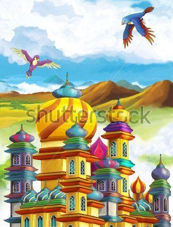 Каталог Картина замок принцессы: Детские | Wall-Style