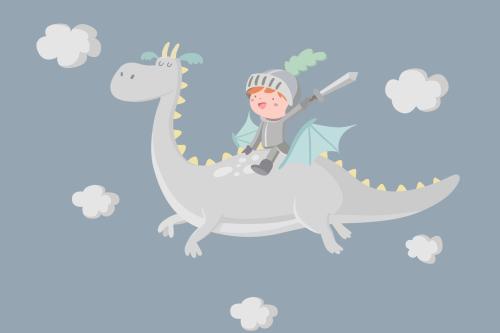 Каталог Фотообои рыцарь на драконе:  | Wall-Style