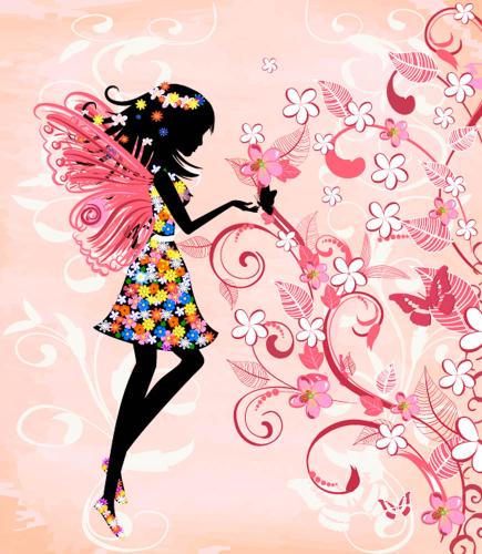 Каталог Картина фея в цветах: Детские | Wall-Style
