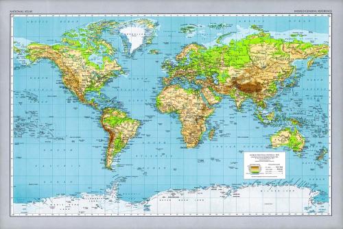 Каталог Фотообои карта в светлой рамке:  | Wall-Style