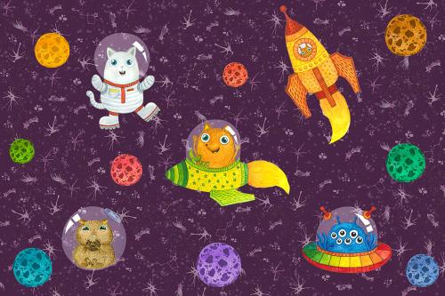 Каталог Картина космическая станция: Детские | Wall-Style