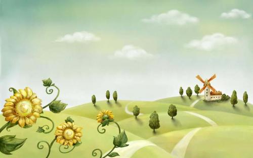 Каталог Картина мельница: Детские   Wall-Style