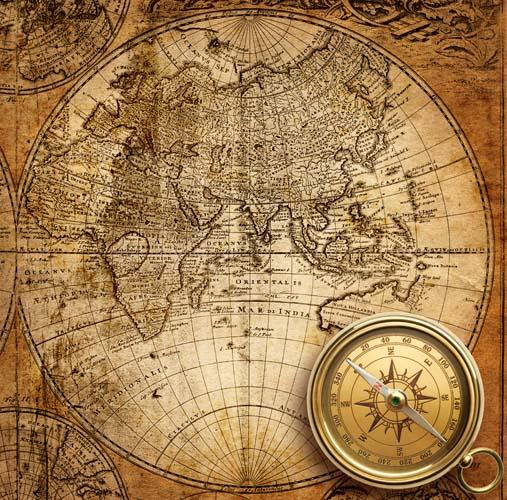 Карта мира с компосом