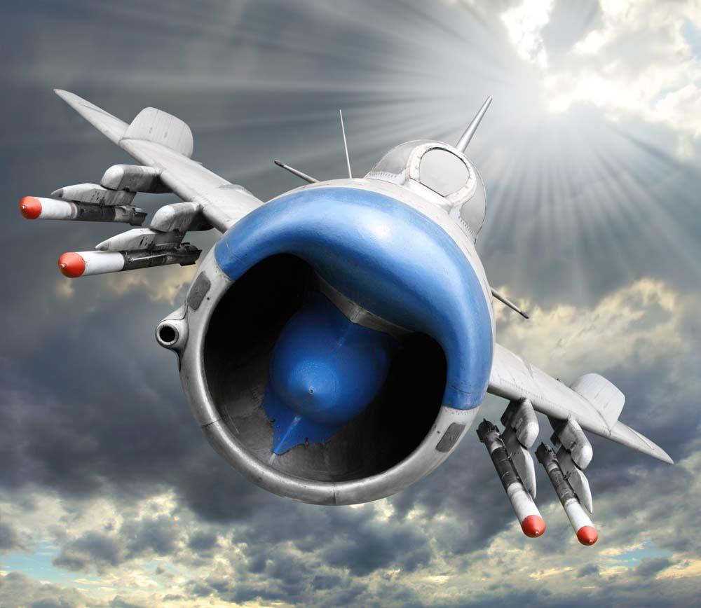 Самолет крупынм планом