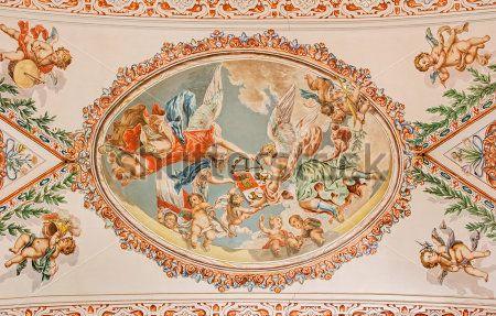 Фреска на потолке, Ангелы